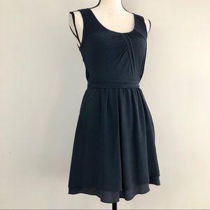 Theory Wool & Silk Sleeveless Mini Dress